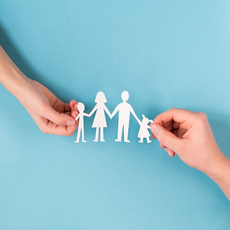top-view-people-holding-hands-cute-paper