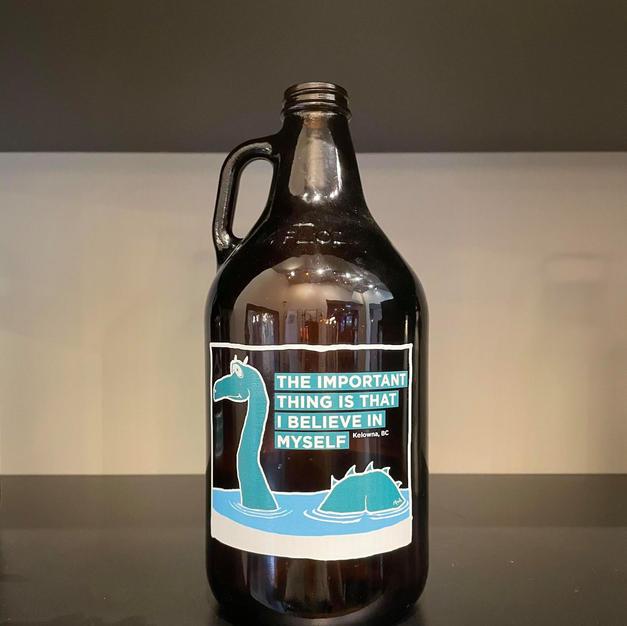 1.89 litre Glass Growler