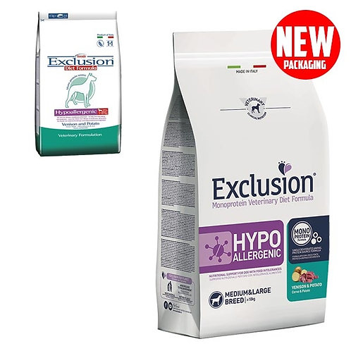 Exclusion - Diet Hypoallergenic Medium/Large Breed Cervo e Patate
