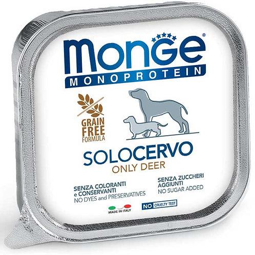 Monge Pate' Monoproteico SOLO Cervo 150 Gr.