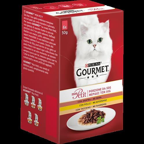 GOURMET Mon Petit Gatto con Anatra, Pollo, Tacchino 6 x 50 g