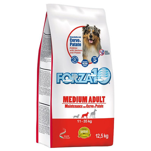 Forza 10 Maintenance Medium con Cervo e Patate da 12,5 Kg