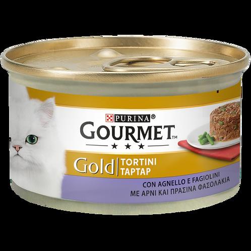 GOURMET Gold Tortini Gatto con Agnello e Fagiolini 85 Gr.