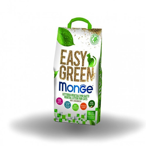Monge Lettiera Easy Green Biodegradabile 100% Ecologica 10 Lt.