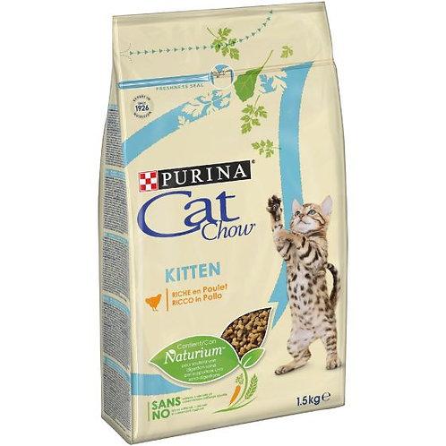 CAT CHOW Kitten Gatto Crocchette ricco di Pollo 1,5 kg