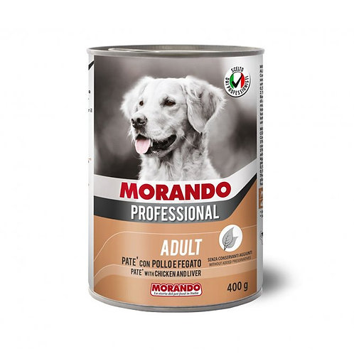Morando Professional Adult, Patè con Pollo e Fegato 400 Gr.