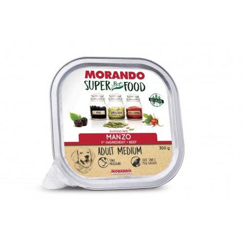Morando Super Pet Food Cane Adult Medium Pate' con Manzo 300 Gr.