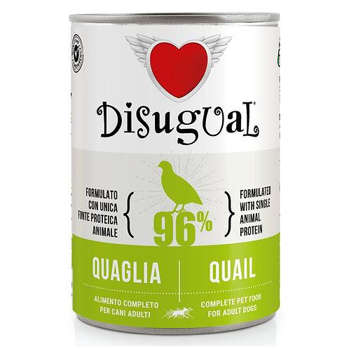 DISUGUAL Adult All Breeds Monoproteico Ipoallergenico Quaglia 400GR