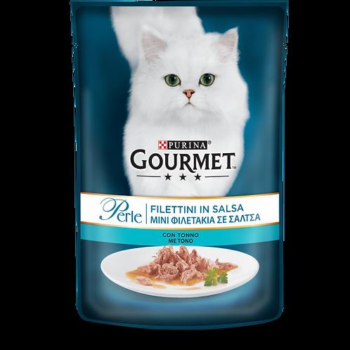 GOURMET Perle Gatto Filettini in Salsa con Tonno 85 Gr.