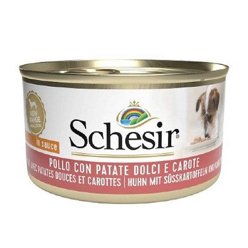 Schesir Cane Pollo, Patate Dolci e Carote da 85 gr