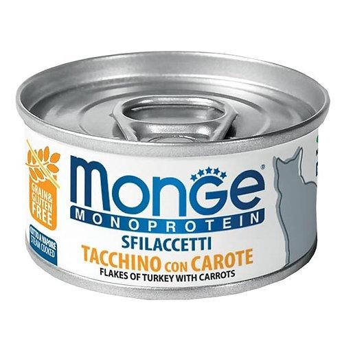Monge - Monoproteico Sfilaccetti Tacchino con Carote