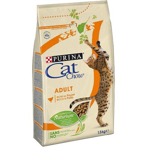 CAT CHOW Adult Gatto Crocchette ricco di Pollo 1,5 kg