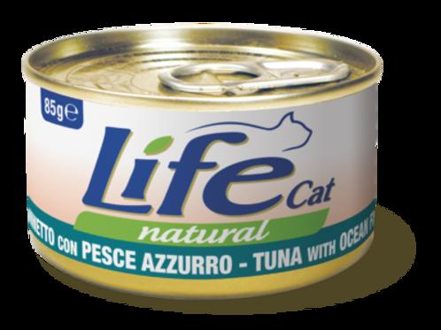 Life Cat Natural Tonnetto con Pesce Azzurro 85 Gr.