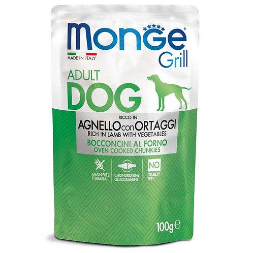 Monge Grill Adult Bocconcini al Forno con Agnello e Ortaggi 100 Gr.