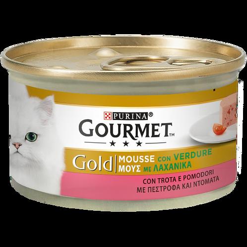 GOURMET Gold Gatto Mousse con Trota e Deliziosi Pomodori 85 Gr.