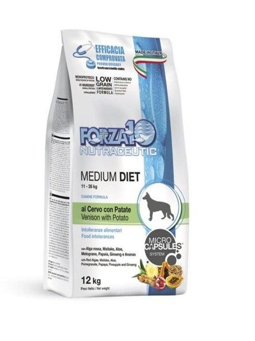 Forza 10  Medium Diet con Cervo e Patate da 12 kg