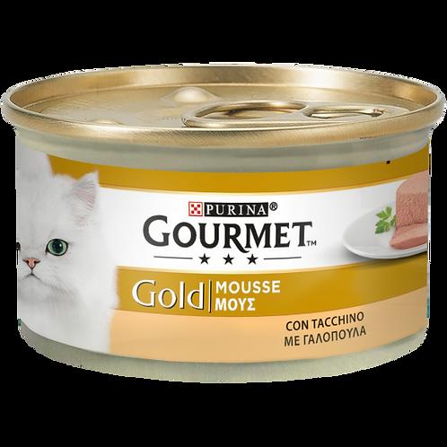 GOURMET Gold Gatto Mousse con Tacchino 85 Gr.