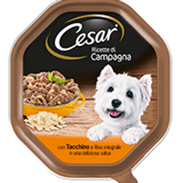 Cesar Ricette di Campagna Tacchino e Riso Integrale in deliziosa salsa 150 Gr.