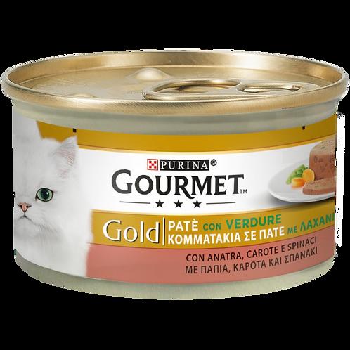 GOURMET Gold Gatto Patè con Verdure, con Anatra, Carote e Spinaci 85 Gr.