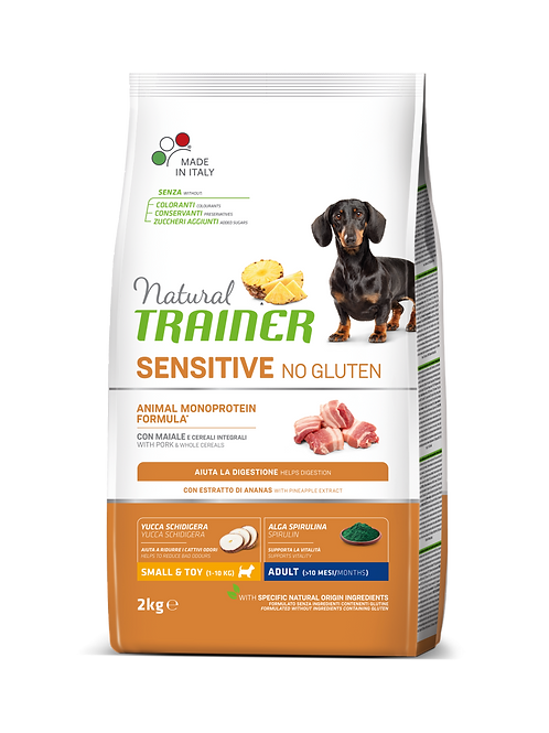 Natural TrainerSensitive Monoproteico No Gluten Mini Adult con Maiale 2 Kg