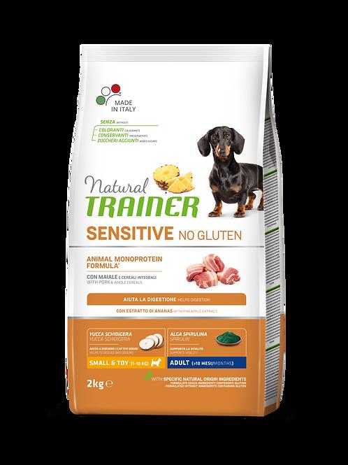 Natural TrainerSensitive Monoproteico No Gluten Mini Adult con Maiale 2 Kg
