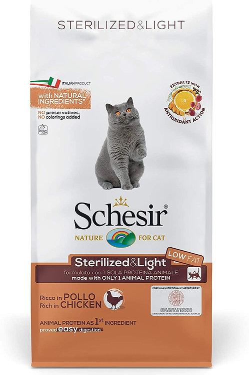 Schesir per Gatti Adulti Sterilizzati o in Sovrappeso Linea Light al Pollo 10 Kg