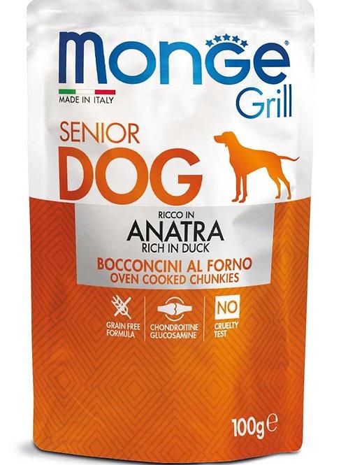 Monge Grill Senior Bocconcini al Forno con Anatra 100 Gr.