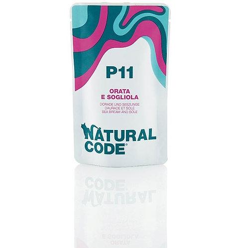 Natural Code -P11 Orata e Sogliola in Acqua di Cottura 70 Gr.