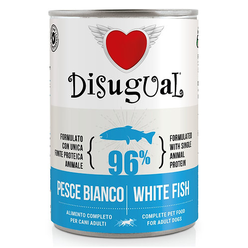 DISUGUAL Adult All Breeds Monoproteico Ipoallergenico Pesce Bianco 400GR