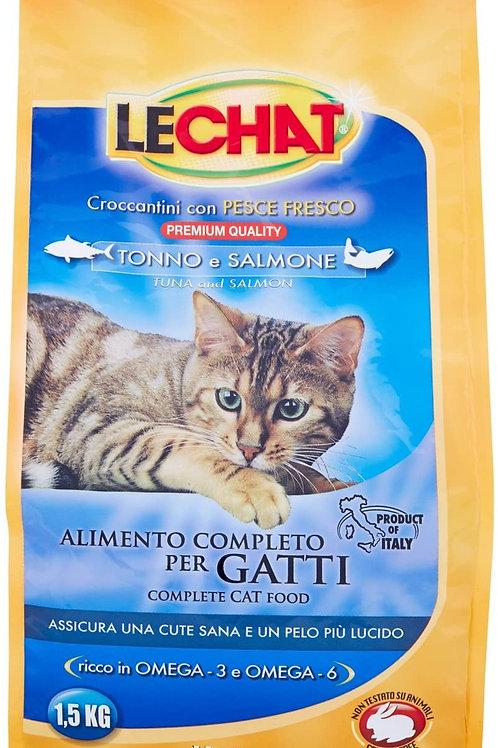 LeChat Crocchette con Tonno e Salmone 1.5 Kg