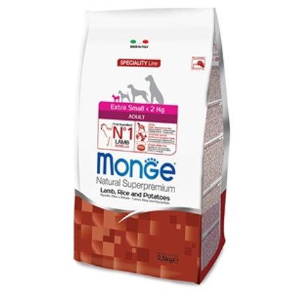 Monge - Natural Superpremium Extra Small Adult Agnello, Riso e Patate 800 Gr.