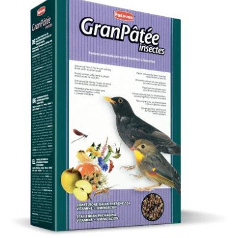 Padovan GRANPÂTÉE INSECTES Mangime Completo per Uccelli 1 Kg. Insettivori