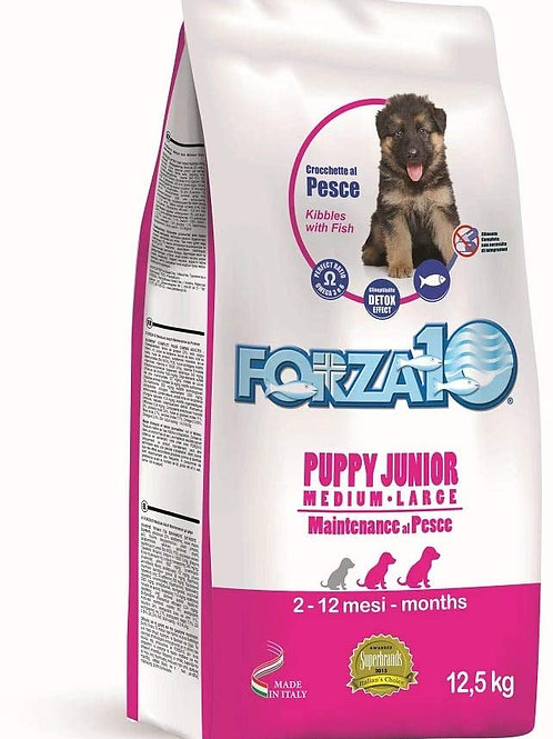 Forza10 - Maintenance Puppy & Junior Medium_Large con Pesce 12,5 Kg