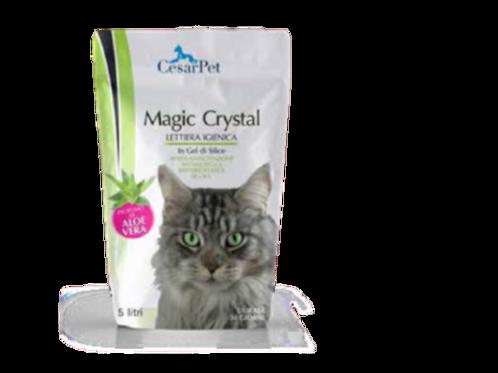 Lettiera Magic Crystal in Gel di Silice Profumo Aloe Vera 5 Lt.