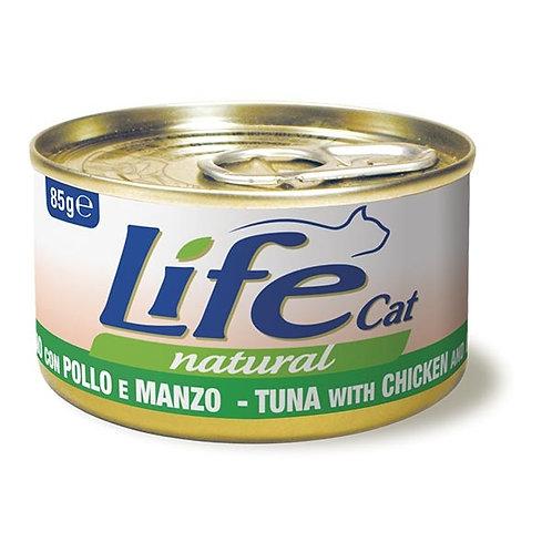 Life Pet Care - Life Cat Natural Tonno con Pollo e Manzo