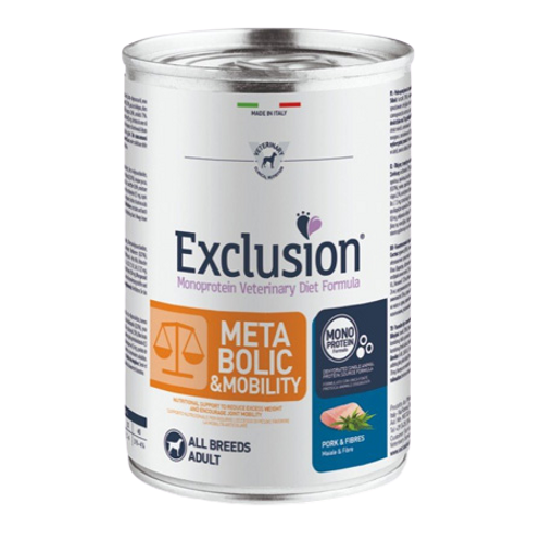 Exclusion Diet Metabolic & Mobility Dog Maiale e Fibre 400 Gr.