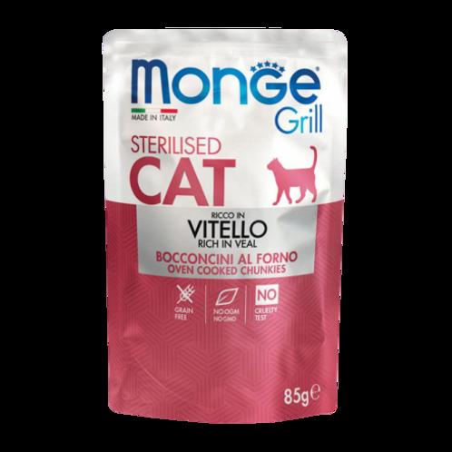 Monge Grill Cat Sterilizzati Bocconcini in Jelly Vitello da 85 Gr