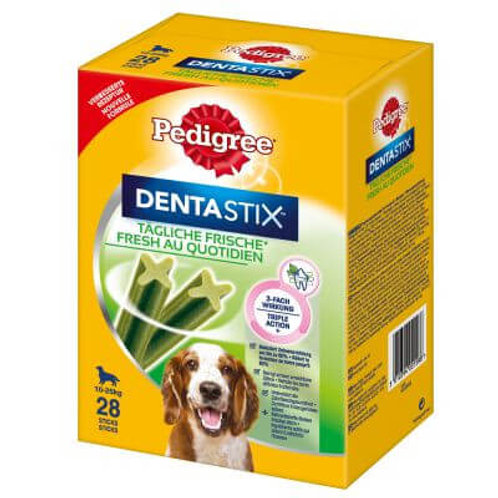 Pedigree Dentastix Daily Fresh Snack l'Igiene Orale Cane 10-25 kg), 28 Pezzi