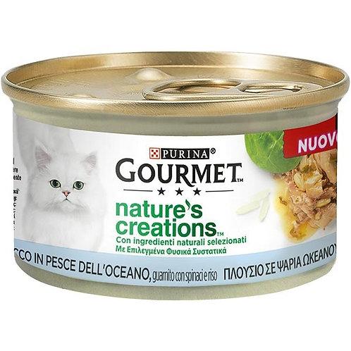 Nestle' Purina - Gourmet Nature's Creations,Tonno,con Pomodori e Riso 85 Gr.