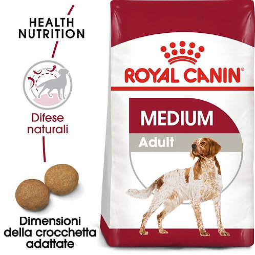 Royal Canin Medium Adult 15+3 Kg. omaggio