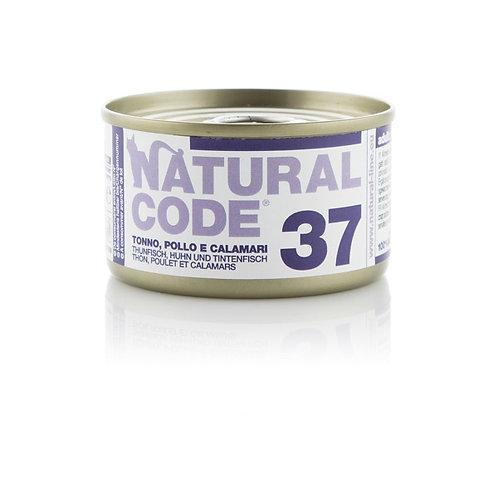 Natural Code - 37 Tonno, Pollo e Calamari  85 Gr.