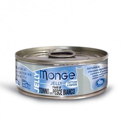 Monge - Natural Superpremium Jelly Filetti di Tonno del Pacifico e Pesce Bianco