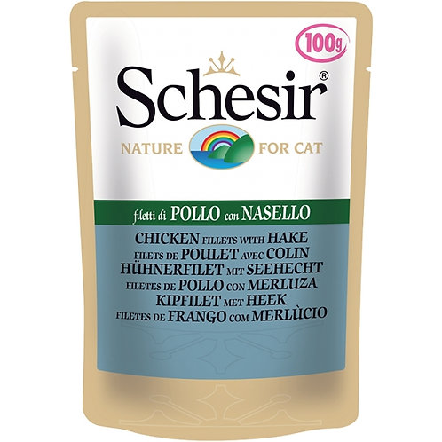 Schesir - Filetti di Pollo con Nasello in Gelatina 100 Gr.