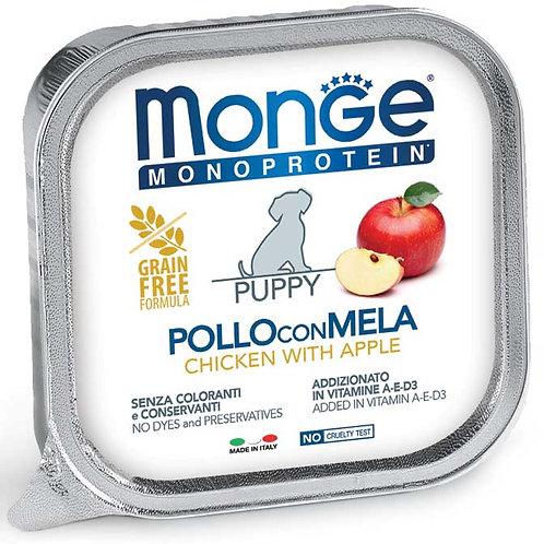 Monge Pate' Monoproteico Puppy Pollo con Mela 150 Gr.