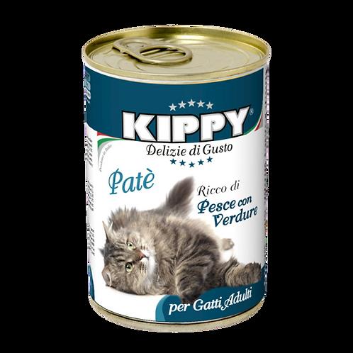 Kippy Gatto Adult Patè Ricco di Pesce con Verdure 400 Gr.