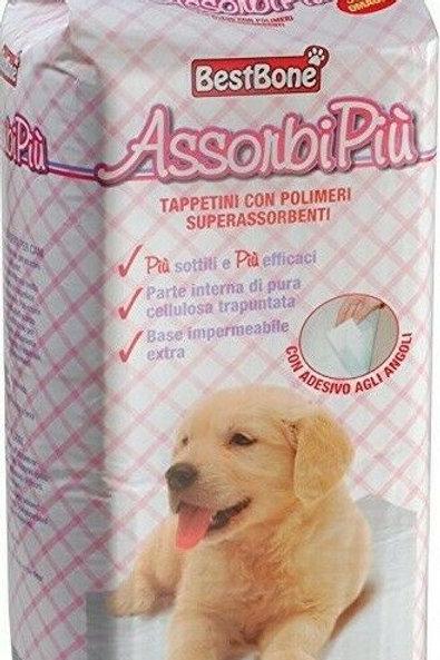 BestBone AssorbiPiù Tappetini con polimeri superassorbenti 60x60 cm 40 pz.