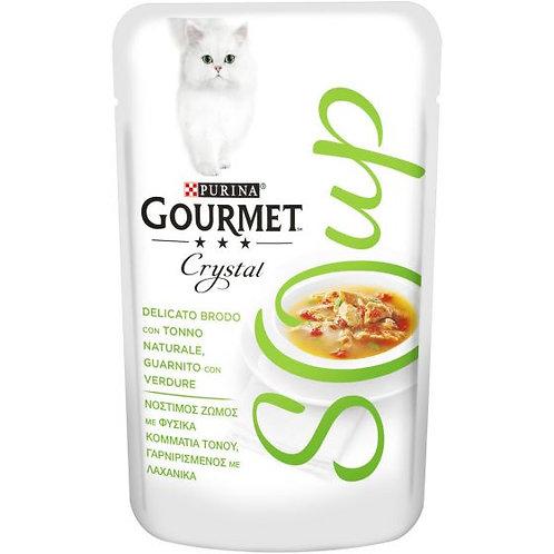 GOURMET Crystal Soup Delicato brodo con Tonno naturale,con Verdure 40 g