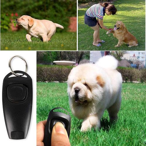 Clicker per Cani 2 in 1 -Addestramento Cani con fischietto