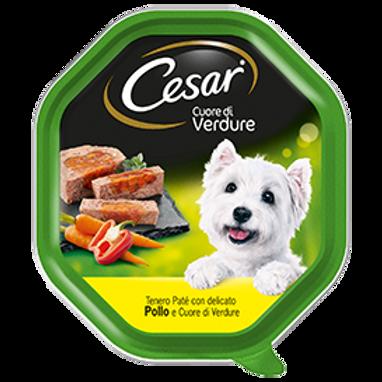 Cesar Selezioni dell'Orto delicato Paté con Pollo e Cuore di Verdure 150 Gr.