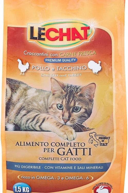 Monge LeChat Crocchette con Pollo e Tacchino 1.5 Kg